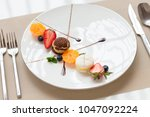 the view of french food | Shutterstock . vector #1047092224