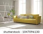 idea of white minimalist room... | Shutterstock . vector #1047096130