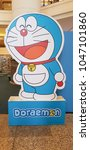 Small photo of KUALA LUMPUR, MALAYSIA - MARCH 11, 2018: Doraemon standup Poster. Doraemon is a Japanese manga series written and illustrated by Fujiko F. Fujio.