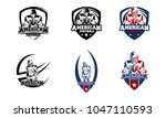 american football logo badge... | Shutterstock .eps vector #1047110593
