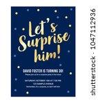 let's surprise him birthday... | Shutterstock .eps vector #1047112936