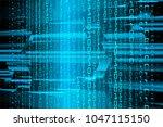 binary circuit board future... | Shutterstock .eps vector #1047115150