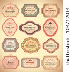 vintage labels | Shutterstock .eps vector #104712014