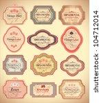 vintage labels | Shutterstock .eps vector #104712014