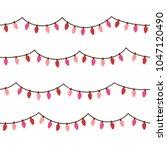 pink christmas light seamless... | Shutterstock .eps vector #1047120490