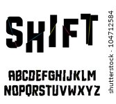 abstract shift alphabet. vector ... | Shutterstock .eps vector #104712584