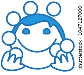 emoji with circus juggler... | Shutterstock .eps vector #1047127000
