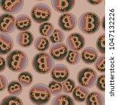 bitcoin electronic coins... | Shutterstock .eps vector #1047132226