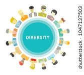 group of people for diversity... | Shutterstock .eps vector #1047137503