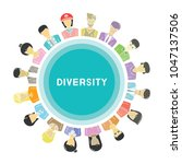 group of people for diversity... | Shutterstock .eps vector #1047137506