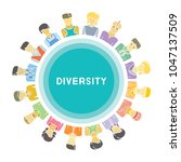 group of people for diversity... | Shutterstock .eps vector #1047137509