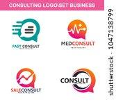 consulting data logo vector   Shutterstock .eps vector #1047138799