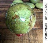 green opal crystal sphere on... | Shutterstock . vector #1047142423