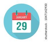 january 29. calendar icon flat... | Shutterstock .eps vector #1047142930