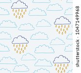 the seamless pattern with... | Shutterstock .eps vector #1047149968