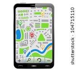 gps navigator in smartphone   Shutterstock . vector #104715110
