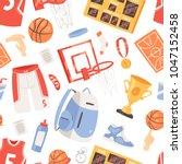 basketball vector sportswear... | Shutterstock .eps vector #1047152458