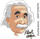 albert einstein famous person... | Shutterstock .eps vector #1047153070