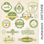 organic labels and elements | Shutterstock .eps vector #104715458
