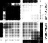 abstract grunge grid polka dot... | Shutterstock . vector #1047159550
