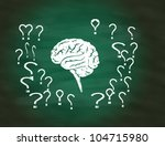 brain thinking conceptual on... | Shutterstock . vector #104715980