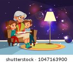 vector cartoon grandmother... | Shutterstock .eps vector #1047163900