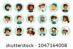 vector cartoon multinational...   Shutterstock .eps vector #1047164008