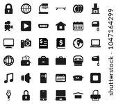flat vector icon set   plates... | Shutterstock .eps vector #1047164299