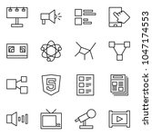 flat vector icon set  ... | Shutterstock .eps vector #1047174553
