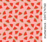 seamless pattern with pieces of ... | Shutterstock .eps vector #1047174760