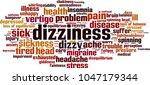 dizziness word cloud concept.... | Shutterstock .eps vector #1047179344