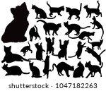 vectors cute cats | Shutterstock .eps vector #1047182263
