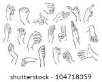 hand gestures illustration | Shutterstock .eps vector #104718359