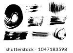 paint brush strokes set. grunge ... | Shutterstock .eps vector #1047183598