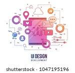 flat illustration for ui ux...
