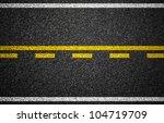 Asphalt Highway With Road...