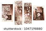 collection of design paintings  ... | Shutterstock . vector #1047198880