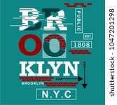 brooklyn typography design nyc  ... | Shutterstock .eps vector #1047201298