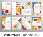 set of a4 cover  abstract...   Shutterstock .eps vector #1047203413