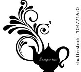 teapot with floral design...   Shutterstock .eps vector #104721650