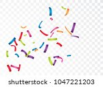 celebration with colorful... | Shutterstock . vector #1047221203
