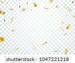 gold confetti background ... | Shutterstock . vector #1047221218