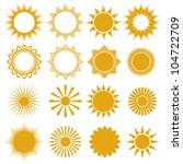 set of vector suns   elements... | Shutterstock .eps vector #104722709