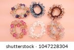 Small photo of Hair Tie or hair clip pretty beautiful hairdo fashion accessory for girl or woman and lady
