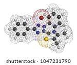 mtt yellow tetrazole dye... | Shutterstock . vector #1047231790