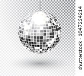 mirror glitter disco ball... | Shutterstock .eps vector #1047234214
