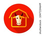 cowshed icon. farm animal sign. ...