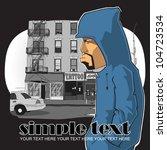 graffiti character on a street... | Shutterstock .eps vector #104723534