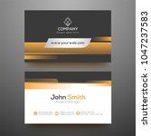 horizontal business card with... | Shutterstock .eps vector #1047237583