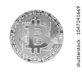 bitcoin isolated on white... | Shutterstock . vector #1047241669